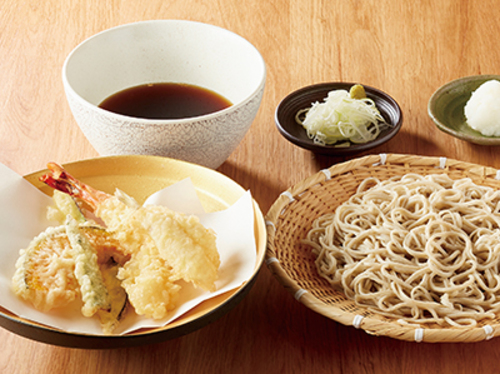 商品画像:海老と夏野菜のおろし天せいろ